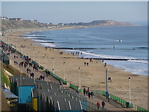SZ1191 : Boscombe: view along the beach by Chris Downer
