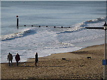SZ1191 : Boscombe: groyne, waves and fun by Chris Downer