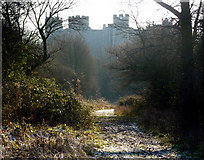 TM2863 : Footpath towards Framlingham Castle by Andrew Hill