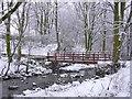 SD7722 : The New Brook Bridge over the River Ogden, Helmshore, Rossendale, Lancashire by Robert Wade