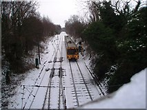 NZ2567 : North-bound train heading for South Gosforth by Philip Barker