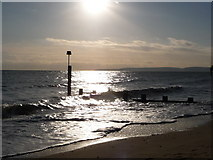 SZ1191 : Boscombe: groyne 23 and Purbeck view by Chris Downer