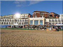 SZ1191 : Boscombe: the Overstrand frontage with flats behind by Chris Downer