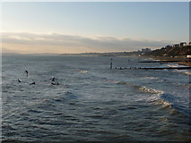 SZ1191 : Boscombe: water sports by the pier by Chris Downer