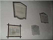 SU8518 : Memorials near the font at St Mary, Bepton by Basher Eyre