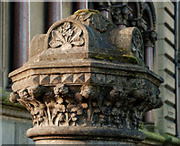 J3372 : Gate pillar, Belfast by Albert Bridge