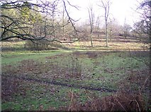 TR0254 : Footpath and Bridleway junction near Badlesmere Park Wood by David Anstiss