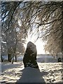 NH7544 : Clava Cairns - Standing Stone - Midday Christmas 2009 by nairnbairn