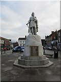 SU3987 : King Alfred in the market place by Bill Nicholls