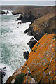 SW6813 : Coastline east of Kynance Cove by Bob Jones