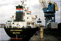 "J3474 : The ""Ballygrainey"" at Belfast by Albert Bridge"