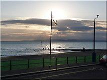SZ1191 : Boscombe: flag alongside the pier by Chris Downer