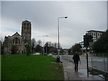 SX9193 : Exeter : St David's Church & Hele Road by Lewis Clarke