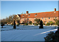 TM3696 : Hales Hall in the snow by Evelyn Simak