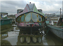 TQ2104 : A psychedelic houseboat on the River Adur, West Sussex by Roger  Kidd
