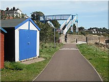 NO4531 : Footbridge, Broughty Ferry by Richard Webb