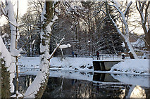 NT2440 : Snow scene in Hay Lodge Park, Peebles by Jim Barton