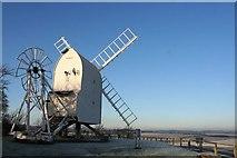 TL4138 : Chishill Windmill in winter fields by Duncan Grey