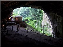SK1482 : Entrance to Peak Cavern, Castleton by Neil Theasby