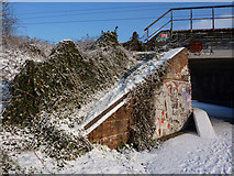 TM1444 : Railway embankment and bridge by Andrew Hill
