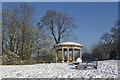 TQ2552 : Inglis Memorial in snow by Ian Capper