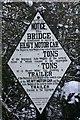 SP3351 : Sign on bridge over dismantled railway, Kineton by David P Howard