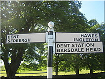SD7087 : Signpost outside Dent, Dentdale, Cumbria by Eamon Curry