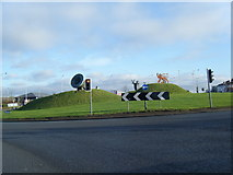 SO9590 : Birmingham Road, Castlegate roundabout. by Colin Pyle