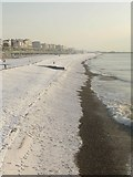 TQ3103 : Snow on Brighton Beach by Peter Whitcomb