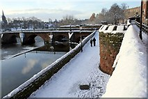 SJ4065 : City Walls and Old Dee Bridge, Chester by Jeff Buck