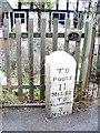 ST9102 : Milestone, Spetisbury by Maigheach-gheal