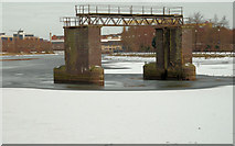 J3473 : The frozen River Lagan, Belfast (7) by Albert Bridge