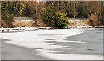 J3371 : The frozen River Lagan, Belfast (10) by Albert Bridge