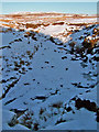 NG2845 : River Roskhill - frozen by Richard Dorrell