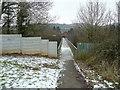 ST1281 : Footbridge over the M4 by Jonathan Billinger