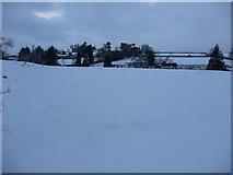 SS9412 : Tiverton : Bakers Hill Snowy Field by Lewis Clarke