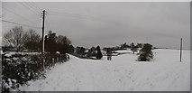 SS9412 : Tiverton : Bakers Hill & Snowy Field by Lewis Clarke