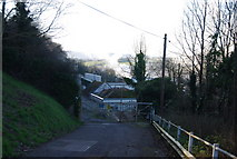 ST0642 : Entrance to the paper mill at Watchet by N Chadwick