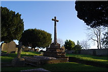 ST0642 : Cross in St Decuman's Churchyard by N Chadwick