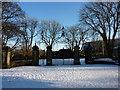 NZ2464 : Gates into Leazes Park by Ian Brackenridge