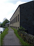 SD9926 : Rochdale Canal towpath by Mayroyd Mill by Phil Champion