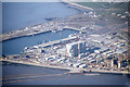 SD3959 : Heysham harbour from the air by Ian Taylor