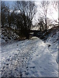 SK1460 : Tissington Trail, bridge near Heathcote, in winter by Peter Barr