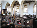 TF7602 : St George's church - nave and south aisle arcade by Evelyn Simak