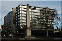 TQ3179 : Obelisk at St George's Circus by Peter Trimming