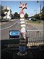 NS3138 : Millennium Milepost, Montgomery Street by Richard Webb