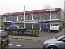 SE1437 : Ducati Motorcycles - Saltaire Road by Betty Longbottom