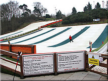 TG2407 : Ski slopes at the Norfolk Ski Club by Evelyn Simak