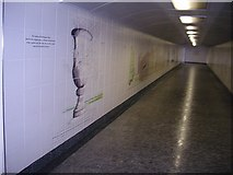TQ2879 : An underpass mural at Hyde Park Corner by Stanley Howe