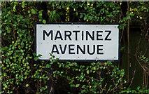 J3773 : Martinez Avenue sign, Belfast (2) by Albert Bridge